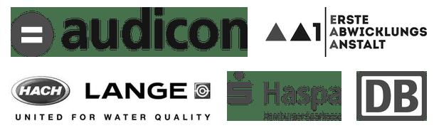 Auswahl (7) von Firmen, deren Mitarbeiter wir bisher geschult haben.