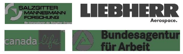 Auswahl (5) von Firmen, deren Mitarbeiter wir bisher geschult haben.