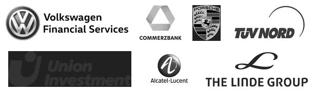 Auswahl (4) von Firmen, deren Mitarbeiter wir bisher geschult haben.
