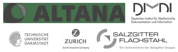 Auswahl (1) von Firmen, deren Mitarbeiter wir bisher geschult haben.